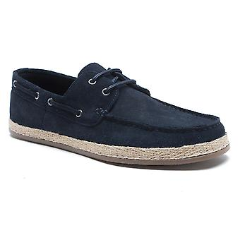 Red Tape Ruskin Navy Suede Mens Boat Shoes