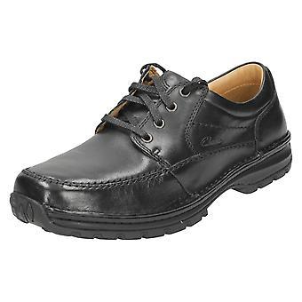 Mens Clarks широкий установку зашнуровать обувь Сидмаут аллея