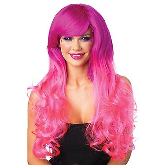 Cambria Two Tone Pink Long Wavy Wig