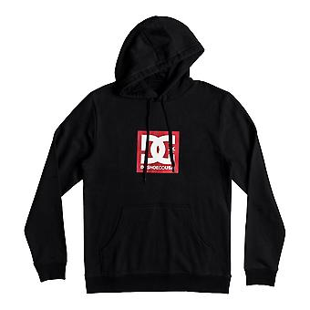 DC Square Star Pullover Hoody in Black
