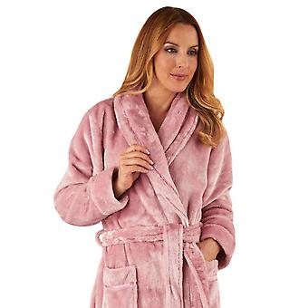 Slenderella HC2347 Women's Luxury Fleece Robe Loungewear Bath Dressing Gown