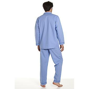 Haigman Miesten Helppohoitoinen Polycotton Long Pyjama Lounge Wear XXL Sininen