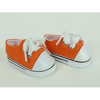 """18 """"docka kläder låg Top Sneakers, Orange"""