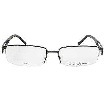 Porsche Design P8703 A Rectangular | Matte Black| Eyeglass Frames