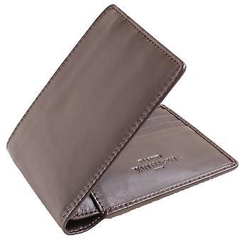 David Van Hagen 8 carte Bifold Wallet - Brown