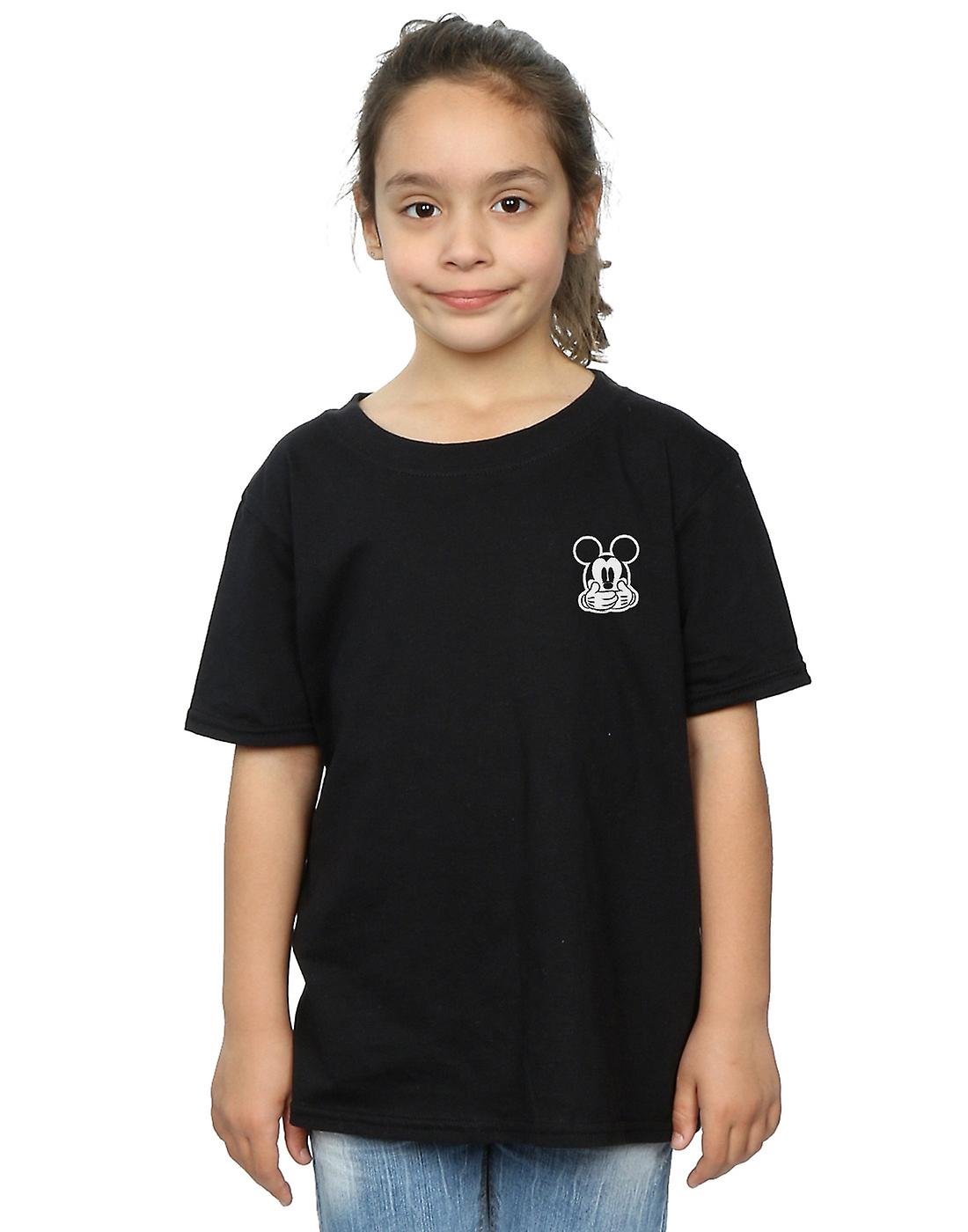 Disney Girls Mickey Mouse Don't Speak Breast Print T-Shirt