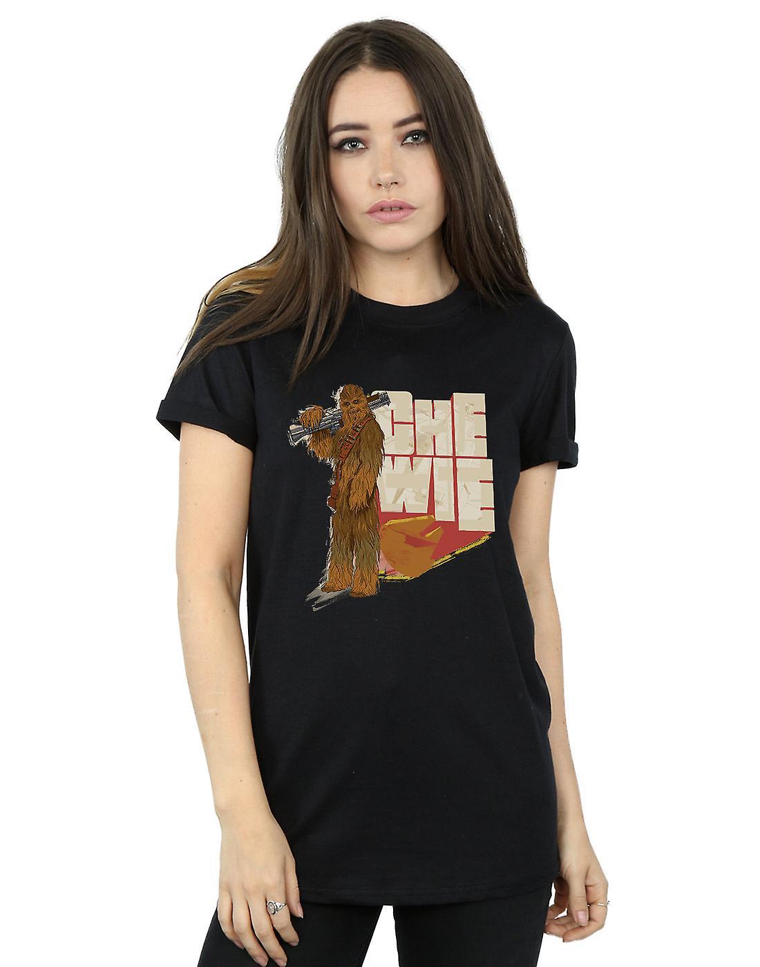 Star Wars Women's Solo Chewie Falcon Boyfriend Fit T-Shirt
