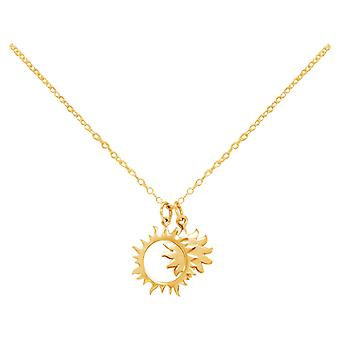 Constellation necklace Eclipse Sun and Moon 925 silver, gold plated or rose