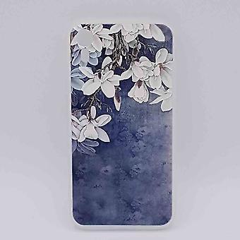 iPhone XR-bolsa-White lirios en azul