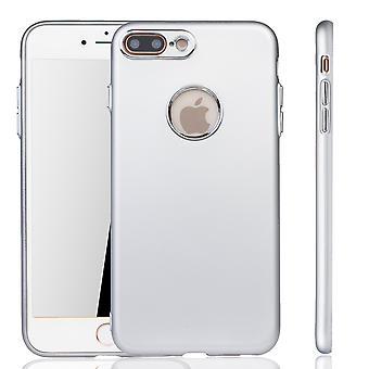 Apple iPhone 7 / 8 plus etui - komórka telefon case dla Apple iPhone 7 / 8 plus - mobilne sprawa srebrny