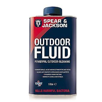 Spear & Jackson 1L al aire libre fluido desinfectante limpieza perrera al aire libre