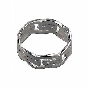فضي 8 مم سلتيك خاتم الزواج حجم Z + 1