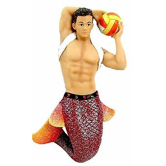 December diamanter Fire Island Merman Christmas Holiday Ornament 7 tum
