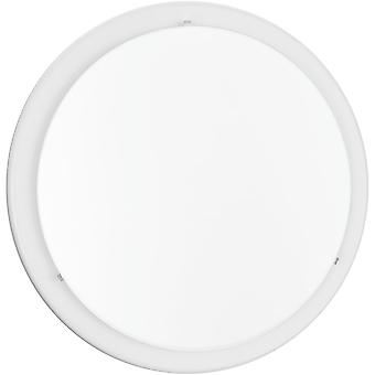 Eglo Planet 11W LED Steel Flush Light With Satin Glass