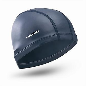 HEAD Nylon-Spandex Silicone Coating Adult Swimming Cap - Navy