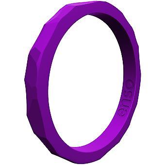 Enso Ringe gehämmert Stackables Serie Silikon-Ring - Royal Purple