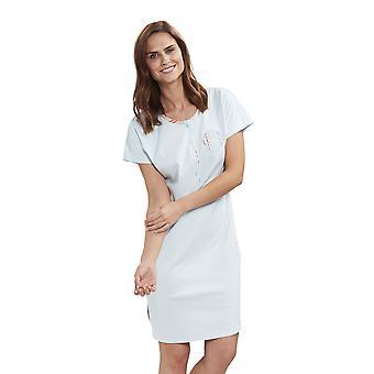 Feraud 3191344-16502 naisten korkean luokan pehmeä turkoosi puuvilla yö puku Loungewear yöpaita