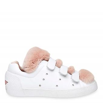 Ash NITRO Trainers White Leather & Pink Faux Fur