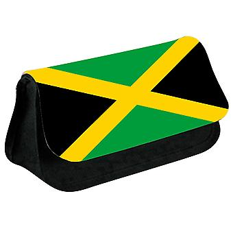 Jamaica Flag Printed Design Pencil Case for Stationary/Cosmetic - 0084 (Black) by i-Tronixs