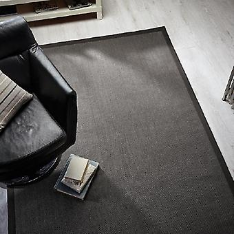 Rugs -Natural Fibre Herringbone - Grey / Grey