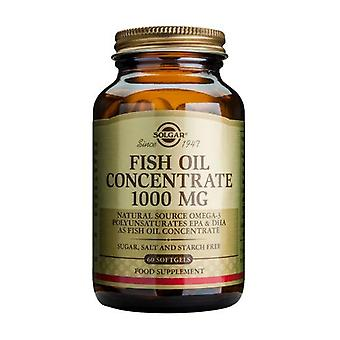 Solgar Fish Oil Concentrate 1000 mg Softgels, 60
