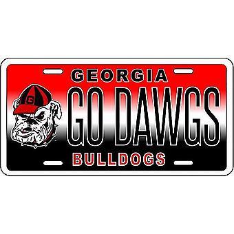 "Georgia Bulldogs NCAA ""Go Dawgs"" License Plate"