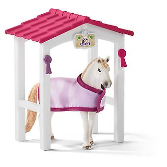 Schleich Horse Club Horse Stall with Lusitano Mare Horse Toy Figure (42368)