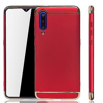 Xiaomi mi 9 mobiele telefoon geval bescherming geval bumper hard cover rood
