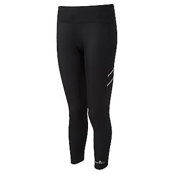 Ronhill stride inverno Shield Womens traspirante inverno running collant profondo tutto nero