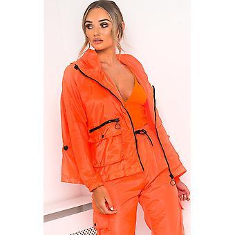 IKRUSH Womens Bella Neon Sports Bomber Jacket