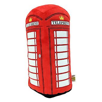 Cojín de felpa de la caja de teléfono roja de Londres (hrd-pho)