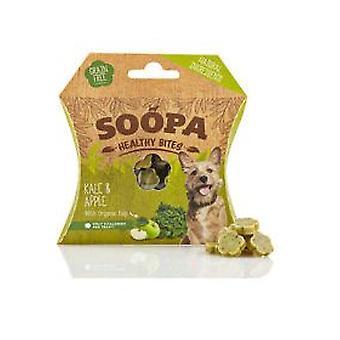 Mordeduras de perro sano Soopa col rizada y manzana