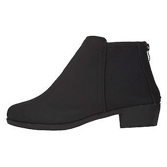 Naisten PU Nubuck nilkkurit rei'itetty paneelit slip-on muoti kengät