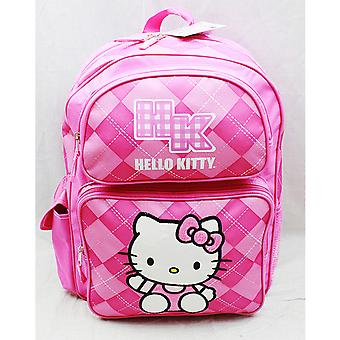 Backpack - Hello Kitty - Pink Checker (Large School Bag) New 82078