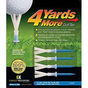 4 yards mere golf tees driver blå 3 1/4 inches længde