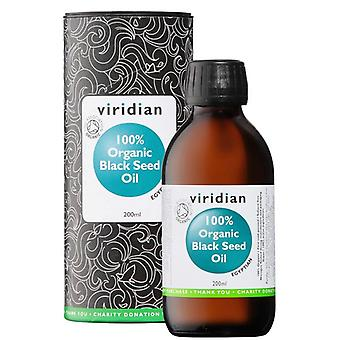 Viridian 100% Organic Black Seed Oil 200ml (520)