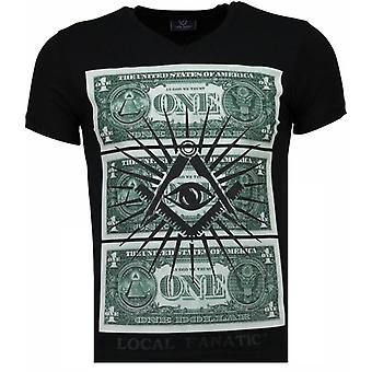 One Dollar Eye - T-shirt - Czarny