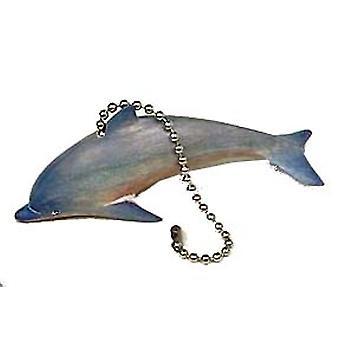 Przybrzeżnych Morskich Bottlenose Dolphin bielone rzeźbione drewniane sufity Wentylator Pull