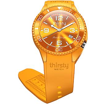 Thirsty papaya unisex watch for Unisex Analog Japanese Quartz with Silicone bracelet BO-PAPAYA