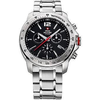Swiss Military Quartz Analog Man Watch with SM34033.01 Stainless Steel Bracelet