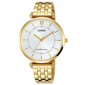 Lorus woman Quartz Analog Women's Watch with Stainless Steel Bracelet In Gold Plated RG292MX9