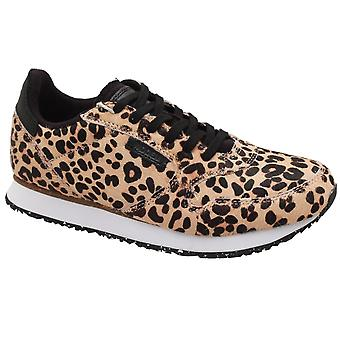 Woden Ydun Leopard Print Lace Up Trainer
