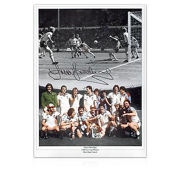 Trevor Brooking Signed West Ham Photo