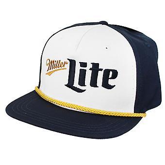 Miller Lite blauw en goud logo hoed