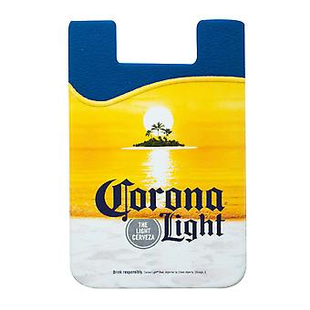 Corona Light Cellphone Rubber Sticky Mount Portefeuille