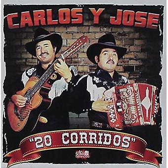 Carlos Y Jose - 20 Corridos [CD] USA importerer