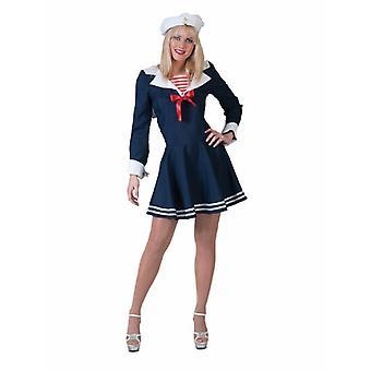 Sailor Sailorgirl vrouwen kostuum Navy Sailor Navy jurk kostuum vrouwen carnaval carnaval
