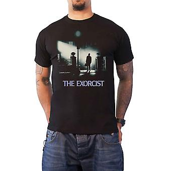 The Exorcist T Shirt classic movie Poster horror logo new Official Mens Black