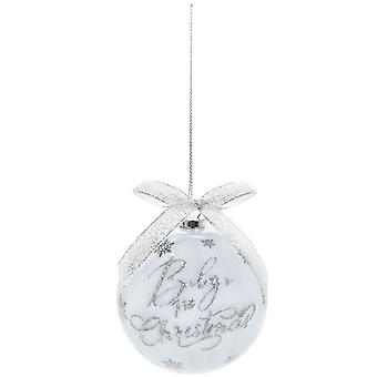 Baby's First Christmas Bauble Blue 7.5cm