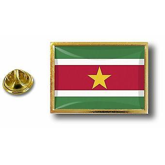 Pine Pines badge PIN-apos; s metaal met vlinder pinch vlag Suriname